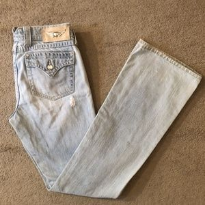 Like new Twisted Heart Distressed Boot Jeans 29